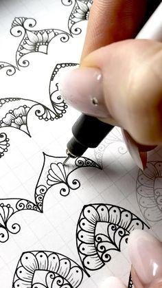 Mandala Art Lesson, Mandala Artwork, Mandala Painting, Mandala Drawing, Mandala Pattern, Zentangle Patterns, Pattern Art, Doodle Art Drawing, Zentangle Drawings