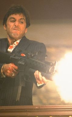 Cult Movies - Top 10 List - Top Ten List - Top 10 Mob Hits in Movie History - Luca Brasi - Spider - Fredo Corleone - Eddie Bartlett - Moe Greene - Tom Powers - Police Captain McCluskey - Billy Batts - Sonny Corleone - Tony Montana Al Pacino, Cult Movies, Iconic Movies, Great Movies, Scarface Poster, Scarface Movie, Movies Showing, Movies And Tv Shows, Thats 70 Show