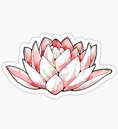 """Lotus Flower"" Stickers by Cristina Cerulli Stickers Cool, Bubble Stickers, Phone Stickers, Journal Stickers, Printable Stickers, Planner Stickers, Lotus Design, Image Tumblr, Schulter Tattoo"