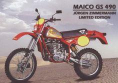 Enduro Vintage, Vintage Motocross, Vintage Bikes, Retro Vintage, Moto Enduro, Scrambler Motorcycle, Racing Motorcycles, Mx Bikes, Cool Bikes