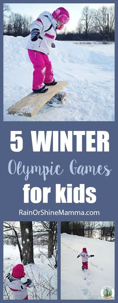 5 Fun Winter Olympic Games for Kids