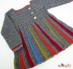 Eloise Girls Sweater :: free crochet pattern in girls sizes S/M/L!