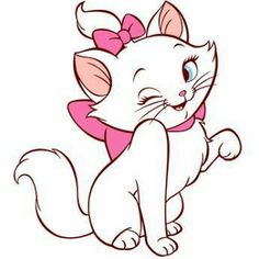 Marie by The Aristocats iMessages Sticker Disney Drawings, Cartoon Drawings, Animal Drawings, Art Drawings, Cartoon Wallpaper, Disney Phone Wallpaper, Marie Aristocats, Disney Tattoos, Calin Gif
