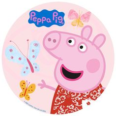Peppa Pig 2, Cumple Peppa Pig, Amazon Auto, Amazon Fr, Baby Birthday Themes, Pig Birthday, Circle Cake, Flamingo Party, Ladybug