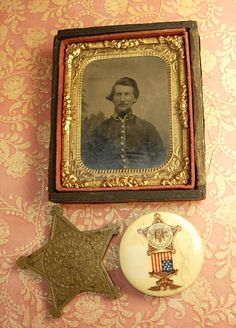 Antique Civil War Tintype and Gar medal plus by vintagesparkles, $290.00