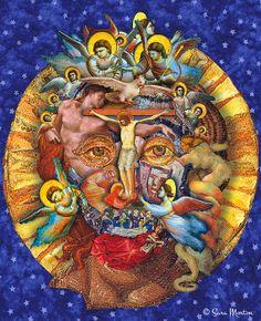 Jesus Digital Collage Transfigured portrait by MortonArtsEditions, $85.00