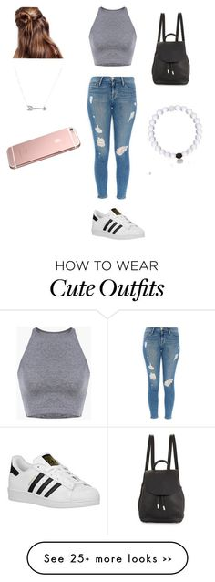 """Cute casual outfit"" by abarajas0404 on Polyvore featuring Frame Denim, adidas Originals, rag & bone and Adina Reyter"
