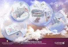 Participate in the #Dreamsterdam contest for your chance to win a pair of travel tickets to Amsterdam along with a stay at the InterContinental Amstel.