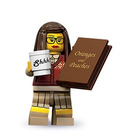LEGO Minifigures - Librarian- stereotypical depiction...