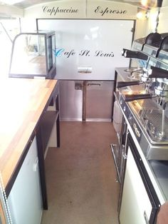 Photos Of - Catering Trailers - Motorised Catering Vans - Mobile Kiosks - Catering Kiosks - Coffee Vans - Catering Trailers - Food Carts Catering Van, Catering Trailer, Food Trailer, Mobile Coffee Cart, Mobile Coffee Shop, Mobile Kiosk, Mobile Cafe, Food Truck Interior, Interior Shop