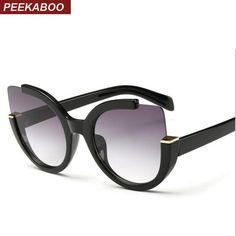 edf66b7daefc Peekaboo New 2018 fashion cat eye glasses frames optical brand design  vintage cat eye eyeglasses frame women clear ...