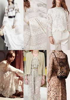 Pre Spring/Summer 2016 Catwalk Print & Pattern Trend Highlights - BCBG Max Azria / Ellie Saab / See by Chloe / Chloe / Chanel / Burberry Prorsum