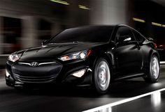 Black Hyundai Genesis Coupe V6