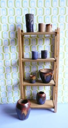 sixties/seventies pottery made by Fennicole Miniatures