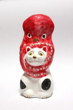米沢相良人形 猫に蛸
