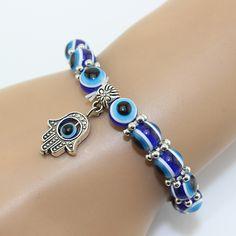 Grátis frete amizade Hamesh pulseira Hamsa mão de fátima Vintage azul turquia Evil Eye infinito charme religiosa pulseira em Pulseira com pingentes de Jóias no AliExpress.com | Alibaba Group