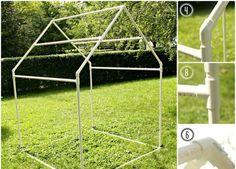 how to make a teepee for kids using pcp piping
