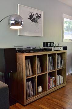 Shelving/Cabinet/Storage — Moriki Design Vinyl Record Cabinet, Stereo Cabinet, Vinyl Record Storage, Lp Storage, Storage Shelving, Record Player Cabinet, Vinyl Room, Audio Room, Living Room Storage