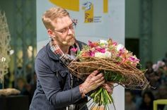 Deutschlands Meisterflorist Jürgen Herold aus Berlin zu Gast beim FDF auf der IPM ESSEN 2014.