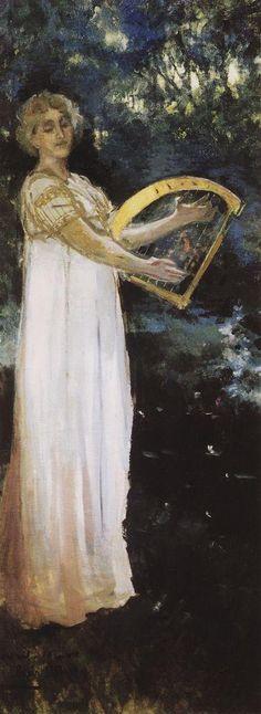 A Muse (1887) - Konstantin Korovin