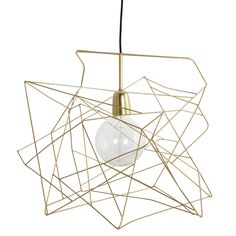 Himmeli-inspiration House Doctor, Gold Ceiling, Ceiling Lamp, Ceiling Lights, Black Ceiling, Gold Lamp Shades, Light Shades, Decoration Design, Deco Design