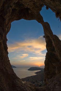 Sunset Kalymnos island, Greece