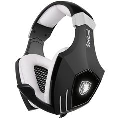 Amazon.com: [2016 Newly Updated USB Gaming Headset] SADES A60/OMG PC Computer Over Ear Stereo Heaphones With Microphone Noise Isolating Volume Control LED Light (Black+White): Computers & Accessories. $29.99