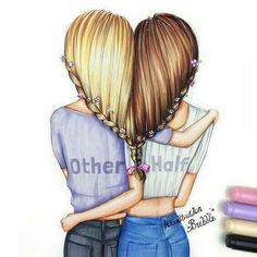 Bff bff drawings, best friend drawings και drawings of friends. Bff Drawings, Pretty Drawings, Beautiful Drawings, Cute Drawings Of Girls, Easy Hair Drawings, Drawings Of People, Cute Best Friend Drawings, Hipster Drawings, Best Friend Pictures