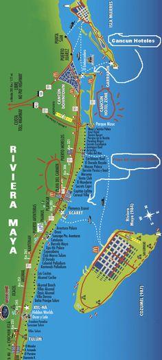 mapa-de-playas-de-riviera-maya