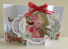 Card made with CraftEmotions Poppie Fields Collection.