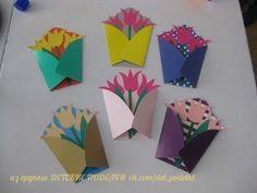 10 Basit ve Güzel Anneler Günü Etkinlikleri Spring Art, Spring Crafts, Flower Cards, Paper Flowers, Diy Crafts For Kids, Art For Kids, Art N Craft, Mother's Day Diy, Mothers Day Crafts