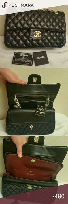 NWT high quality Real leather Chanel bag Brand new never worn, great quality chanel bag No box and dust bag.NON AUTH. SIZE meduim CHANEL Bags Shoulder Bags