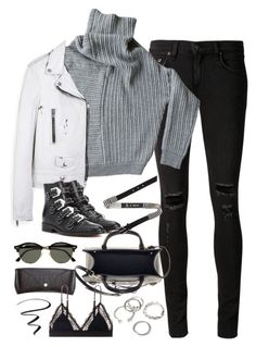 """""""Untitled#4706"""" by fashionnfacts ❤ liked on Polyvore featuring rag & bone/JEAN, Yves Saint Laurent, Givenchy, Balenciaga, McQ by Alexander McQueen, Ray-Ban, H&M, Forever 21, LoveStories and L'Oréal Paris"""