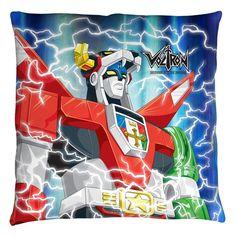 Voltron/Lightning Combine Throw Pillow