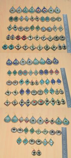 Gemstone 14884: Wholesale 61 Pair 925Tibetan Silver Turquoise,Lapis Lazuli Long Hook Earring Lot -> BUY IT NOW ONLY: $99.99 on eBay!