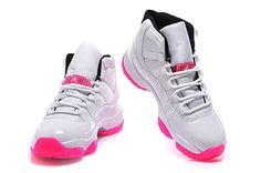 Women Jordan 11 White/Pink