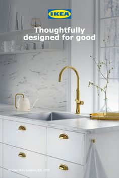 IKEA - LYSEKIL Wall panel double sided white marble effect, patterned Kitchen Worktop, Kitchen Countertops, American Kitchen Design, Ikea Family, O Gas, Marble Effect, Kitchen Trends, Wet Rooms, Mosaic Patterns