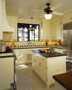 beautiful spanish revival kitchen in santa barbara, ca 1929 home