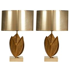 Exceptional Pair of Maison Charles Lamps | 1950s