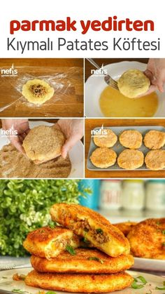 Potato meatballs (with minced meat) (with video) Like .- Potato meatballs (with minced meat) (with video) How do I create a recipe? Mince Dishes, Turkish Recipes, Ethnic Recipes, Potato Patties, Potato Croquettes, How To Make Potatoes, Create A Recipe, Food Videos, Food To Make