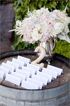 vineyard escort card ideas