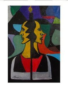 Pintura de Mark Swiiter - Composição com Figuras