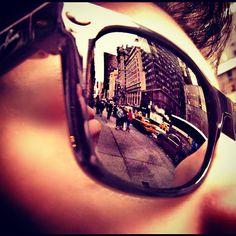 NYC reflection on sunglasses. #reflective #sunglasses #mirror