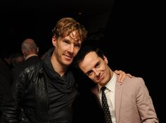 Andrew Scott and Benedict Cumberbatch everybody *aww just how cute they are*