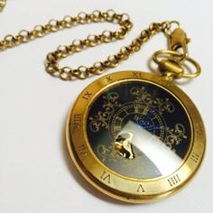 Classic Vintage Gold Mechanical Pocket Watch by Victorianstudio, CAD68