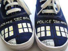 DIY custom TARDIS keds