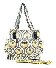 Take a look at this Bayá Yellow Peacock Diaper Bag on zulily today!