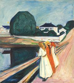 Edvard Munch: The Girls on the Bridge. 1927. Oil on canvas. Tate Modern