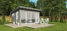 Building a shed is a popular solution for creating storage space outside the house. Whether you are thinking about having a go and building a shed yourself Backyard Office, Backyard Studio, Backyard Sheds, Garden Office, Outdoor Office, Outdoor Decor, Strand Pool, Metal Garden Furniture, Garden Cabins