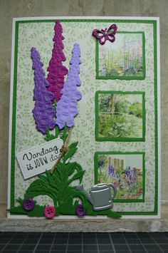 Hallo Allemaal, Er loopt weer een nieuwe challenge bij Marianne Design. En het thema bedacht door Anita is; een tuinkaart. Deze kaart ...